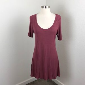 LuLaRoe rosewood ribbed Perfect T top